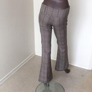 🍈SEDUCTION plaid low rise brown casual pants
